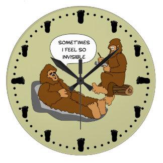 Shrink's Office Funny Sasquatch Cartoon Custom Large Clock