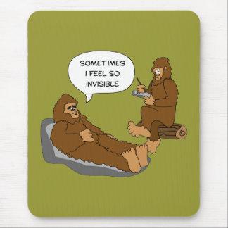 Shrink's Office Funny Sasquatch Cartoon Custom Mouse Pad