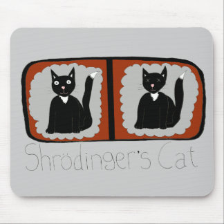 Shrodinger Cat Science Cartoon Mouse Pad