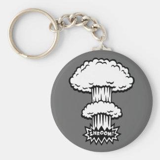 SHROOM -b w Keychains