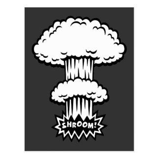 SHROOM! -b/w Postcard
