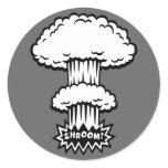 SHROOM! -b/w stickers