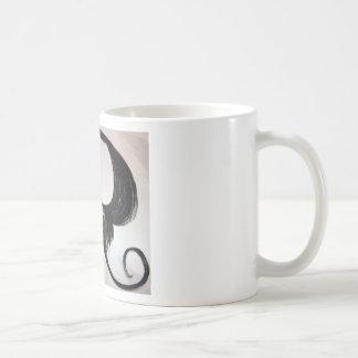shroom cloud skull mustache coffee mug