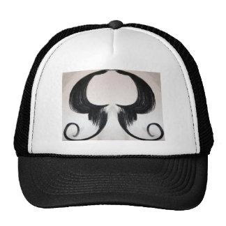 shroom cloud skull mustache trucker hat