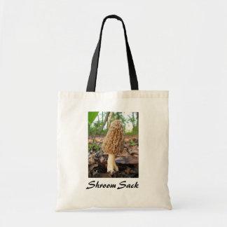Shroom Sack Morel Mushroom Tote Canvas Bag