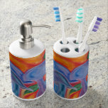 Shroom toothbrush caddy and soap dispenser