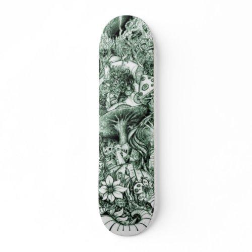 Shroom trip skateboard