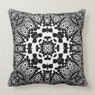 Shroomi : Black & White Geometric Tribal Cushion Pillows