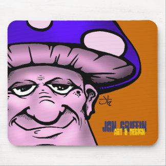 Shroomie2-blu, Jon Griffin, Art & Design Mouse Mat