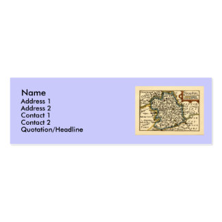 Shropshire County Map, England Double-Sided Mini Business Cards (Pack Of 20)