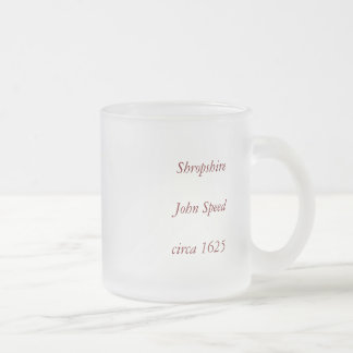 Shropshire County Map, England Frosted Glass Coffee Mug