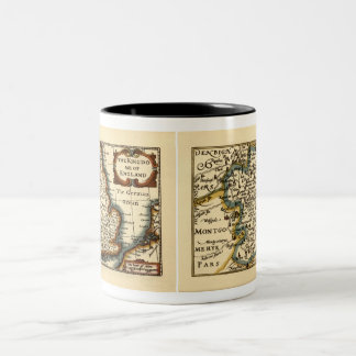 Shropshire County Map England Mug