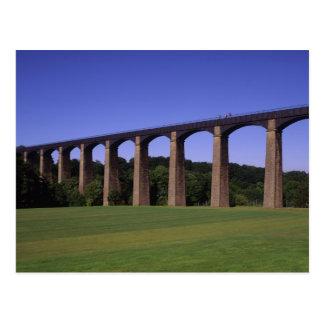 Shropshire Union Canal Aqueduct, Pont Cysyllte, Postcard
