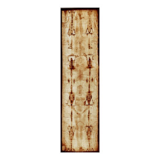 Shroud of Turin, ENHANCED, full image Jesus Christ Poster