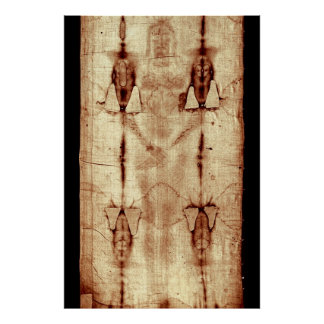 Shroud of Turin, Frontal View, Full Size Poster