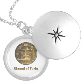 Shroud of Turin items Round Locket Necklace