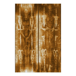 Shroud of Turin Jesus Image Front & Back Poster