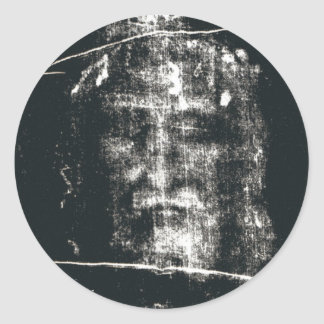 Shroud Of Turin, Negative Classic Round Sticker