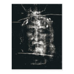 Shroud Of Turin, Negative Postcard