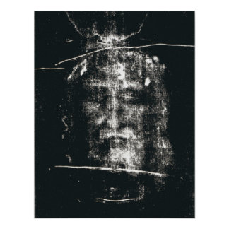 Shroud Of Turin, Negative Poster