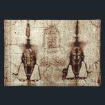 "shroud of turin placemat<br><div class=""desc"">shroud of turin placemat--ideal for last suppers!</div>"