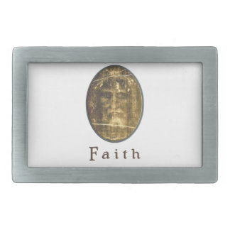 Shroud of turin products rectangular belt buckle