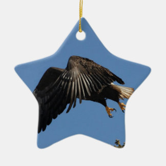 Shrouded by Wings Ceramic Ornament