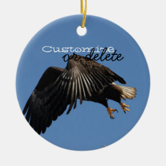 Shrouded by Wings; Customizable Ceramic Ornament