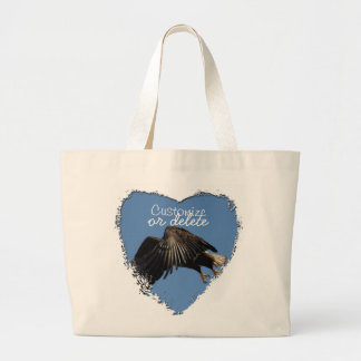 Shrouded by Wings; Customizable Large Tote Bag