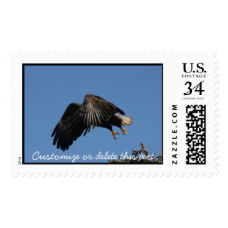Shrouded by Wings; Customizable Stamp