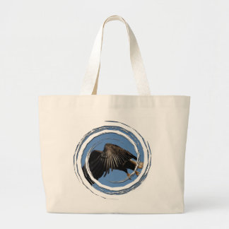 Shrouded by Wings Large Tote Bag