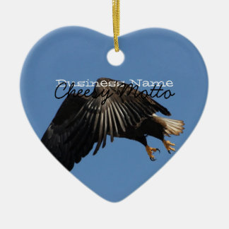 Shrouded by Wings; Promotional Ceramic Ornament