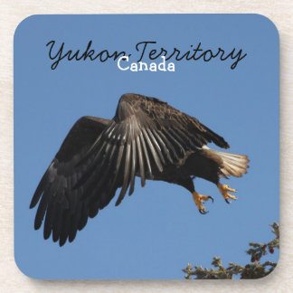 Shrouded by Wings; Yukon Territory Souvenir Coaster