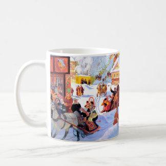 """""""Shrove-Marea"""". Tazas rusas del regalo del navidad"""
