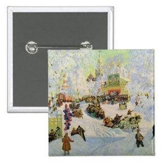 Shrove-Tide, 1919 2 Inch Square Button