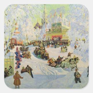Shrove-Tide, 1919 Square Sticker