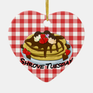 Shrove Tuesday - pancakes Ceramic Ornament