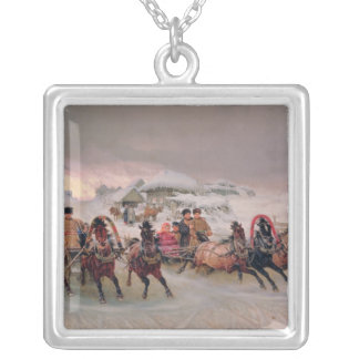 Shrovetide, 1889 silver plated necklace