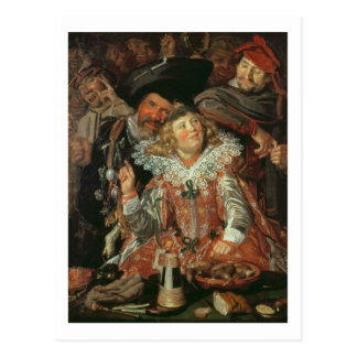 Shrovetide Revellers (The Merry Company) c.1615 (o Postcard