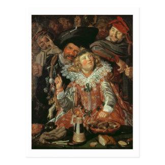 Shrovetide Revellers (The Merry Company) c.1615 (o Postcard