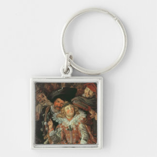 Shrovetide Revellers (The Merry Company) c.1615 (o Silver-Colored Square Keychain
