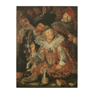 Shrovetide Revellers (The Merry Company) c.1615 (o Wood Wall Art