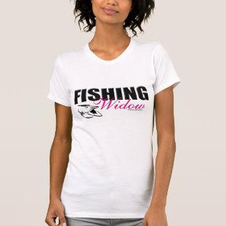 Shrt del _wht de la viuda de la pesca playera