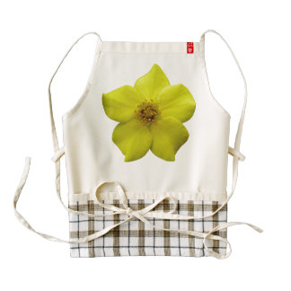 Shrubby Cinquefoil #1 Zazzle HEART Apron