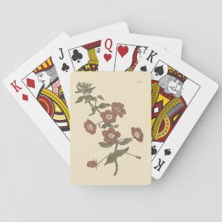 Shrubby Pimpernel Botanical Illustration Playing Cards
