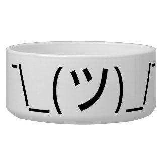 Shrug Emoticon ¯\_(ツ)_/¯ Japanese Kaomoji Bowl