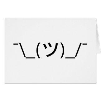 Shrug Emoticon ¯\_(ツ)_/¯ Japanese Kaomoji Card