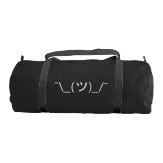 Shrug Emoticon ¯\_(ツ)_/¯ Japanese Kaomoji Gym Bag