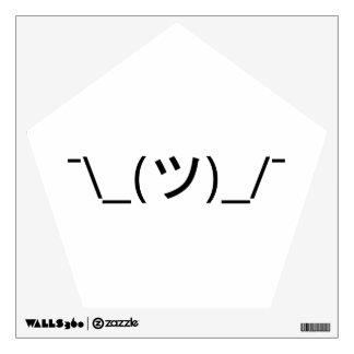 Shrug Emoticon ¯\_(ツ)_/¯ Japanese Kaomoji Wall Sticker