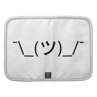 Shrug Emoticon Japanese Kaomoji Folio Planners
